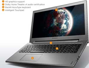 See some of the features available on the  Lenovo IdeaPad Z500.