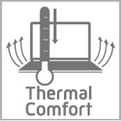 Be comfortable anywhere with the thermal efficient cooling system on the Packard Bell Easynote Butterfly S. It uses the same advanced air cooling technology which is applied on today's modern jet engines.
