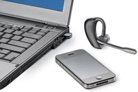 Take calls on you mobile or PC with the Voyager Pro UC