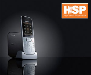 The new HSP technology found on Gigaset phones allows you to enjoy crystal clear sound quality on your telephone calls.