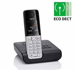 Featuring ECO DECT technology, the C300A reduces the transmitting power from the base station to the handset, depending on their distance apart.
