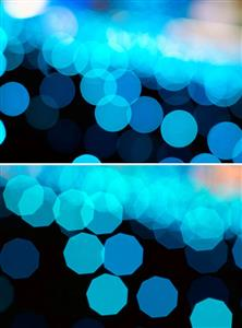 9 Diaphragm blades produce a much more desirable Bokeh effect