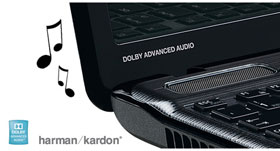Premium Harman Kardon speakers help give you rich, high-quality stereo sound.