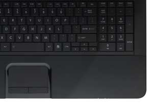 The full-sized keyboard and numeric keypad help to make typing a comfortable experience.