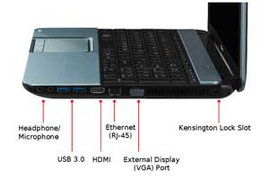 See some of the features of the Toshiba Satellite L855 laptop