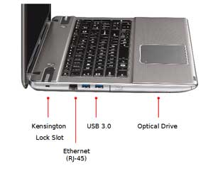 See some of the features of the Toshiba Satellite P875 laptop.
