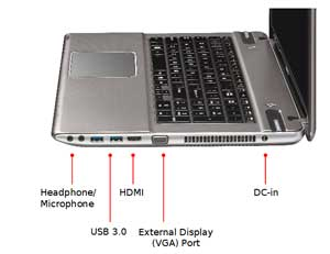 See some of the features of the Toshiba Satellite P875 laptop