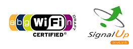 WiFi Draft N certified -- SignalUp technology