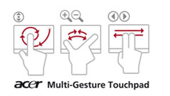 Acer multi-gesture touchpad control