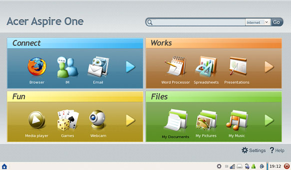aspire one wallpaper. original Aspire One OS,