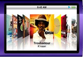 iPod nano coverflow