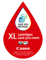 Canon XL ink cartridges