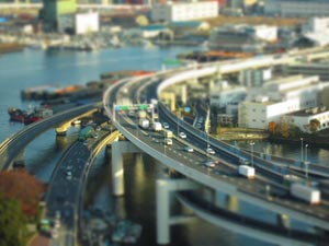 Miniature Effect transforms normal landscapes into miniature lookalikes