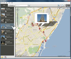 Inbuilt GPS tags your images