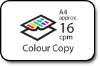 Colour copy -- A4 approx. 16cpm