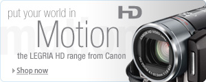 Check out the great range of Canon HD Camcorders