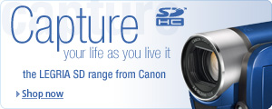Check out the great range of Canon SD Camcorders
