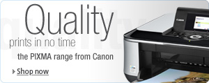 Check out the great range of Canon PIXMA printers
