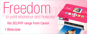 Check out the great range of Canon SELPHY printers