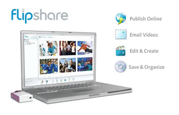 Edit, file, format and have fun with your creations with the Flip Ultra's built-in FlipShare software