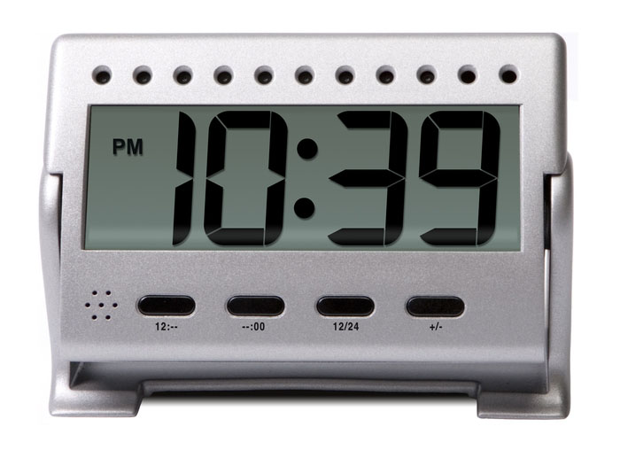 Logitech security camera clock front