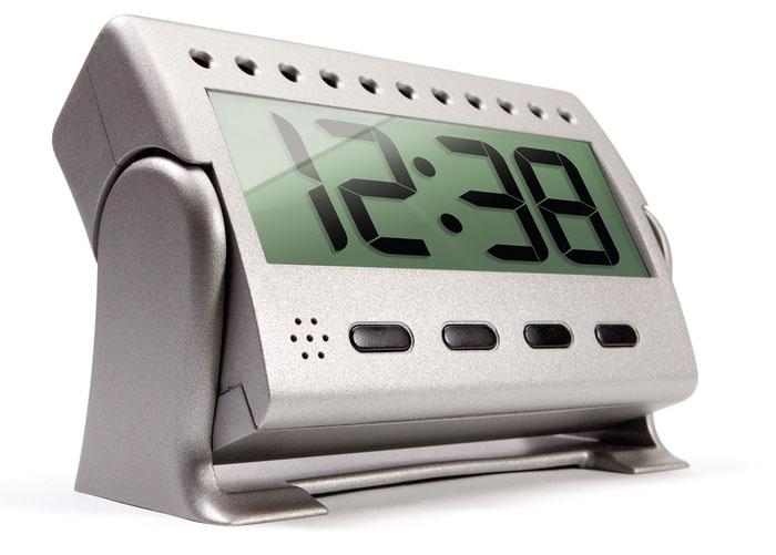 Logitech security camera clock side