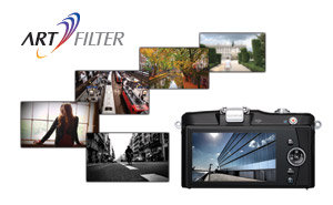 6 Art filters can be applied to stills or video