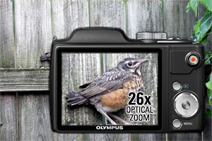 26x ultra-wide optical zoom for photo flexibility