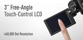 The DMC-GH2 adopts touch-control shooting.
