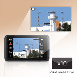 Capture the smallest detail with up to 10x clear image zoom.