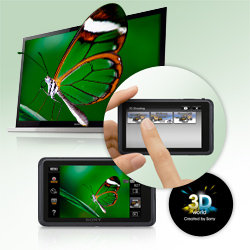 Take 3D single shot still photos for playback on your 3D TV.
