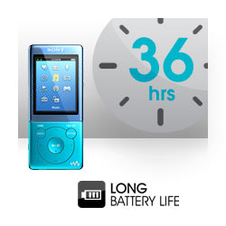 Listen for longer with up to 36 hours battery life.