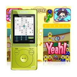 Play games on the go with Puyo Pop and Number Place.