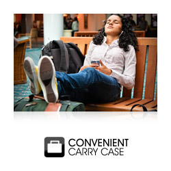 Supplied with carrying cases for convenient portability on the move