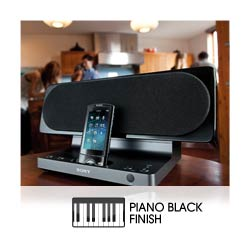 Beautifully styled for any room with Piano Black wooden finish.