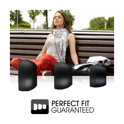 Perfect fit guaranteed with different sizes of silicone ear bud provided