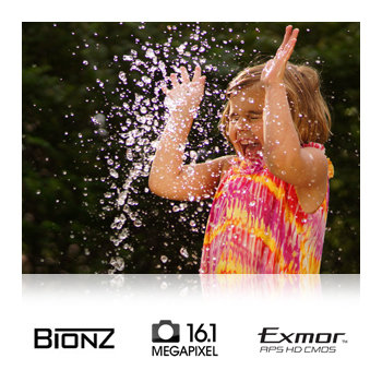 16.1-megapixel Exmor APS HD CMOS sensor and BIONZ image processor