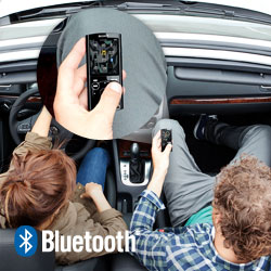 Share your media with smartphones, laptops, tablets and other MP3 players with Bluetooth.