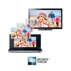 "Grab your personal music, video or pictures and ""throw"" them to an internet connected television, hi-fi or photo frame"