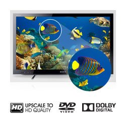 Watch and listen to your favourite DVDs like never before in near HD quality.