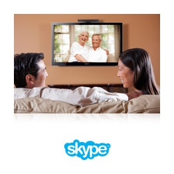 Make free Skype calls with the camera accessory.