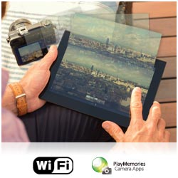 Get more from your camera with built in Wi-Fi and Play Memories camera apps