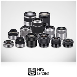 Find out more about the range of 11 interchangeable NEX lenses