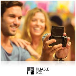 Get the perfect angle for every shot with the 180 degree tiltable touch screen