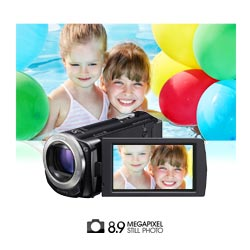 Capture high quality 8.9 megapixel photos.