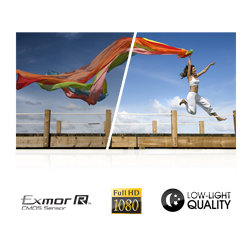 Take Full HD 1920x1080 video with a high sensitivity Exmor R CMOS sensor – increased detail and clarity even in low light.