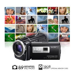 Capture high quality 8.9 megapixel photos with 30x Sony G optical zoom lens.