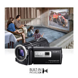 Shoot and share anytime, anywhere with built-in projector.