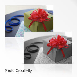 The easy-to-use Photo Creativity interface gives quick access to a range of creative settings simply by pressing the centre button on the control wheel.