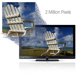 With full HD 1080p resolution, these sets provide more than 2 million pixels for a smooth, high resolution image.